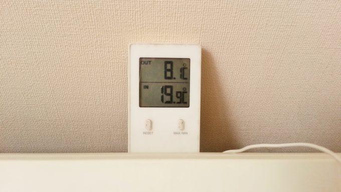 エアコンの吸込み温度を測定