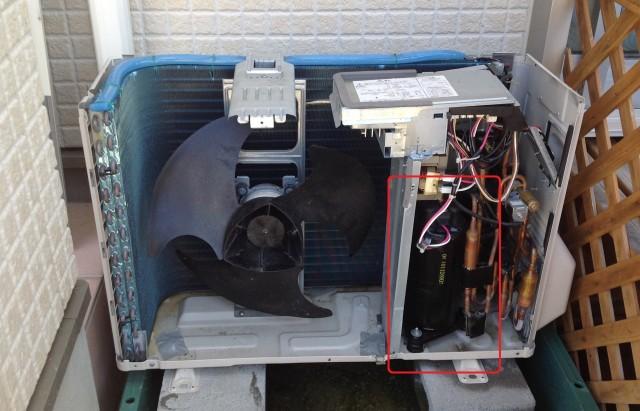 エアコンの圧縮機が故障
