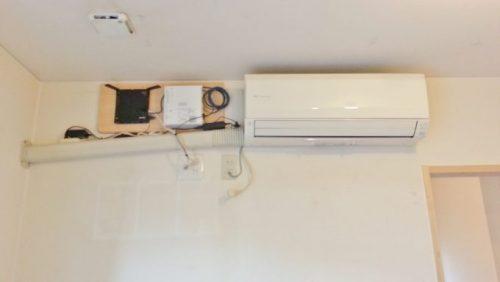 正しい配管勾配のエアコン