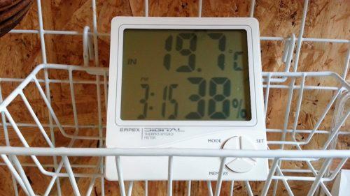 簡易的な湿度計に表示されるのは相対湿度