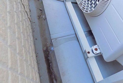 エアコン室外機停止が原因で落ちてくる水滴