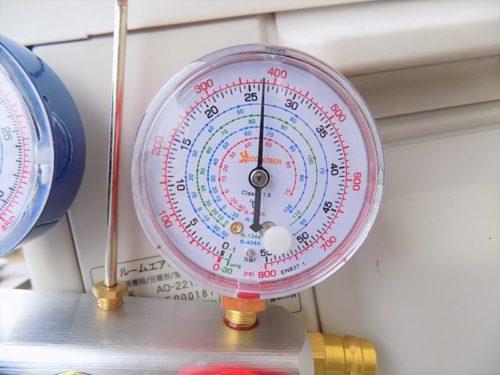暖房運転時の冷媒ガスの高圧圧力測定