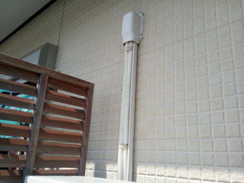 エアコン配管カバーの中の状態