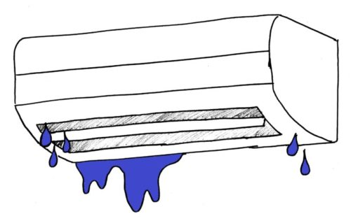 エアコンからの水滴が落ちてくる原因と対処法